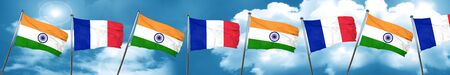 french culture: India flag with France flag, 3D rendering Stock Photo