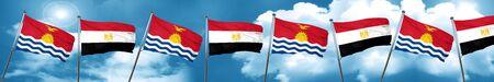 Kiribati flag with egypt flag, 3D rendering Stock Photo