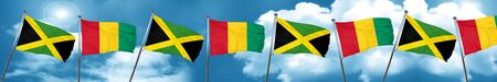 jamaican: Jamaica flag with Guinea flag, 3D rendering Stock Photo