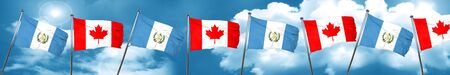 guatemalan: guatemala flag with Canada flag, 3D rendering Stock Photo