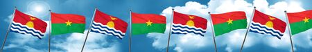 Kiribati flag with Burkina Faso flag, 3D rendering Stock Photo