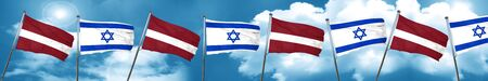 Latvia flag with Israel flag, 3D rendering Stock Photo