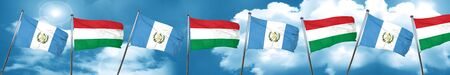 guatemala flag with Hungary flag, 3D rendering