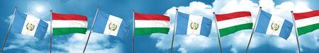 guatemalan: guatemala flag with Hungary flag, 3D rendering