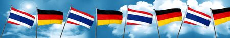 german culture: Thailand flag with Germany flag, 3D rendering Stock Photo