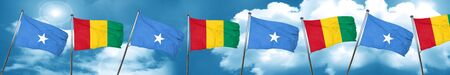 Somalia flag with Guinea flag, 3D rendering Stock Photo