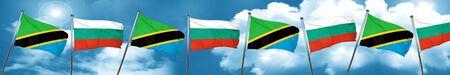 tanzania: Tanzanian flag with Bulgaria flag, 3D rendering Stock Photo