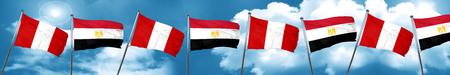 bandera de egipto: Perú bandera con la bandera de Egipto, representación 3D