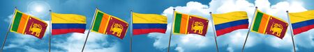 Sri lanka flag with Colombia flag, 3D rendering Stock Photo