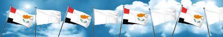 yemen: Yemen flag with Cyprus flag, 3D rendering Stock Photo