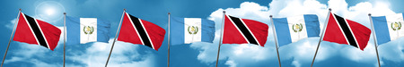 bandera de guatemala: Trinidad and tobago flag with Guatemala flag, 3D rendering