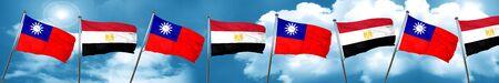 bandera de egipto: Bandera de Taiwán con la bandera de Egipto, representación 3D