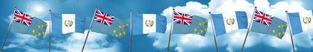 bandera de guatemala: Tuvalu flag with Guatemala flag, 3D rendering