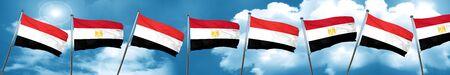 yemen: Yemen flag with egypt flag, 3D rendering