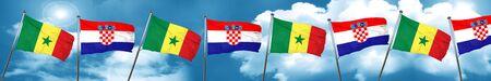 Senegal flag with Croatia flag, 3D rendering Stock Photo