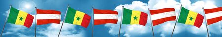 Senegal flag with Austria flag, 3D rendering Stock Photo