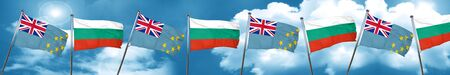 Tuvalu flag with Bulgaria flag, 3D rendering Stock Photo
