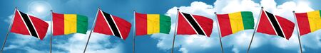 Trinidad and tobago flag with Guinea flag, 3D rendering Stock Photo