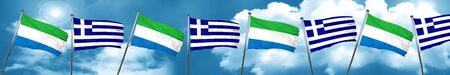 Sierra Leone flag with Greece flag, 3D rendering Stock Photo