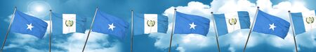 somalia: Somalia flag with Guatemala flag, 3D rendering