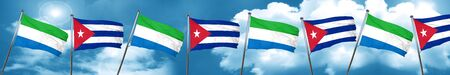 cuban culture: Sierra Leone flag with cuba flag, 3D rendering Stock Photo