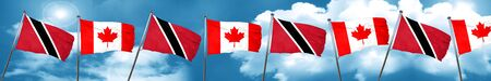 Trinidad and tobago flag with Canada flag, 3D rendering Stock Photo