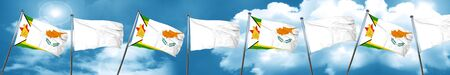 cyprus: Zimbabwe flag with Cyprus flag, 3D rendering
