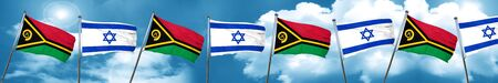 Vanatu flag with Israel flag, 3D rendering Stock Photo