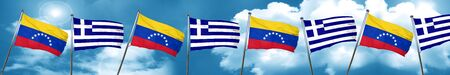 bandera de venezuela: bandera de Venezuela con el indicador de Grecia, 3D