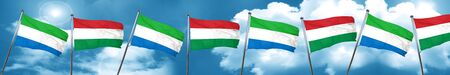 Sierra Leone flag with Hungary flag, 3D rendering Stock Photo
