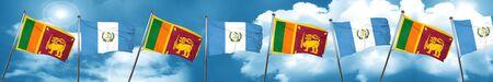 guatemalan: Sri lanka flag with Guatemala flag, 3D rendering