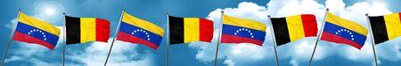 bandera de venezuela: bandera de Venezuela con la bandera de Bélgica, 3D