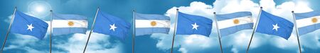somalia: Somalia flag with Argentine flag, 3D rendering