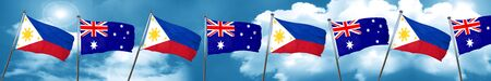 philippino: Philippines flag with Australia flag, 3D rendering