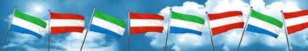 Sierra Leone flag with Austria flag, 3D rendering