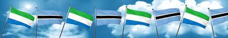 Sierra Leone flag with Botswana flag, 3D rendering Stock Photo