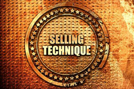 techniek: verkooptechniek, 3D-rendering, tekst op metalen Stockfoto