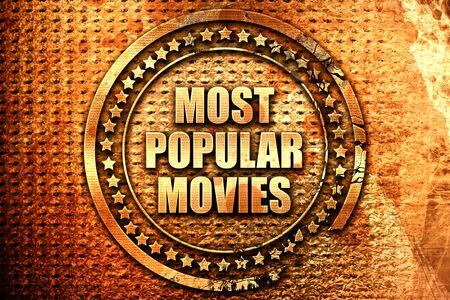 suggest: most popular movies, 3D rendering, text on metal