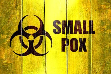 smallpox: Vintage Smallpox on a grunge wooden panel