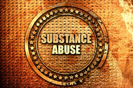substance abuse, 3D rendering, text on metal Stock Photo