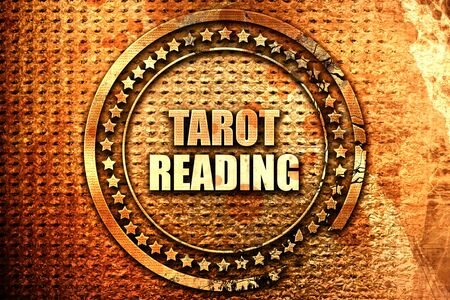 tarot reading, 3D rendering, text on metal Stock Photo