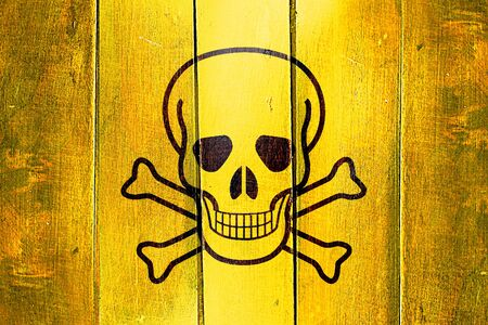 chemical hazard: Vintage Poison sign background on a grunge wooden panel