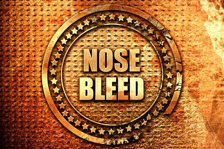nosebleed, 3D rendering, text on metal