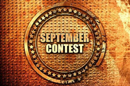 contestant: september contest, 3D rendering, text on metal