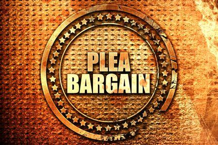 plea bargain, 3D rendering, text on metal