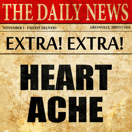 heartache: heartache, article text in newspaper