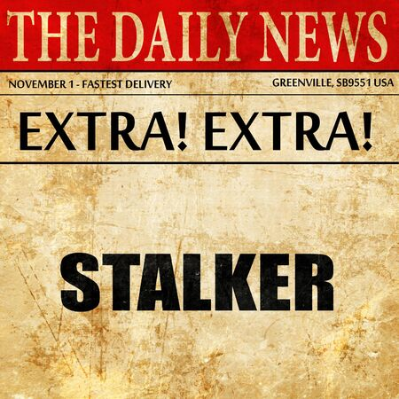 mugger: stalker, article text in newspaper