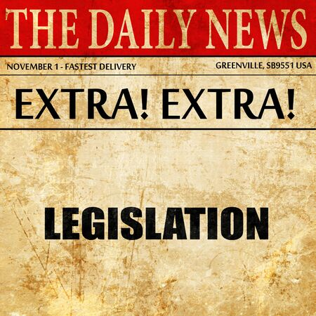 legislation: legislation, article text in newspaper Stock Photo