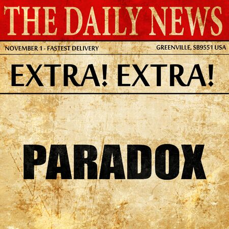 paradox: paradox, article text in newspaper