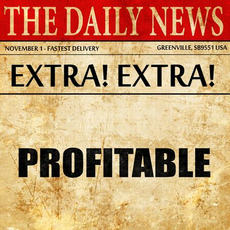 dividend: Profitable, article text in newspaper